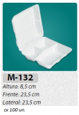 M-132 BANDEJA C/ TAMPA ARTICULADA C/ 100 UN.
