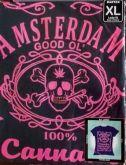 Camiseta feminina Amsterdam 100% Cannabis