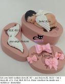 Kit bebê realista 8cm + asa + kit 4 laços ( BLK 80/LA)