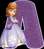 Alfabeto - Princesa Sofia 6 - PNG