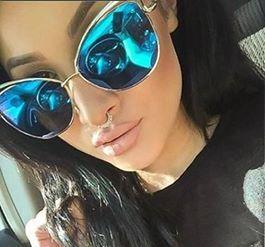 351d11f0e Óculos gatinho espelhado Azul - Fashion for you by Mariela