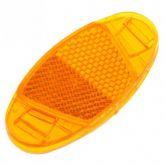 Refletor amarelo de fixação no raio da bicicleta