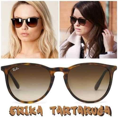 dac0e979c28e7 Óculos de Sol Ray-Ban RB4171 Erika Tartaruga - Lente Marrom Degradê ...