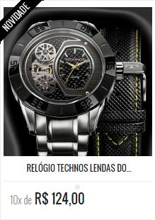 e5ec1507c4ce6 RELÓGIO TECHNOS LENDAS DO PODIUM HÉLIO CASTRO NEVES 2039AN 1P ...