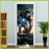 Adesivo Porta -  Vingador Homem de Ferro 3 - porta 413
