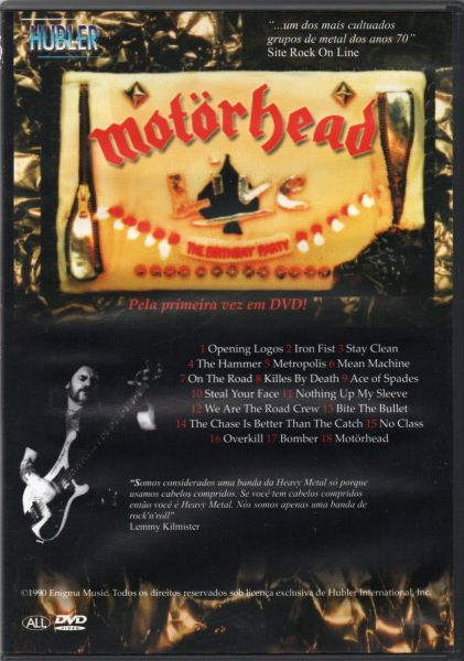 """Motörhead - """"The Birthday Party Recorded Live at Hammersmith Odeon 26 June 1985"""" DVD Nacinal!!!"""