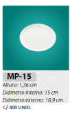 MP-15 BANDEJA ISOPOR MEIWA REDONDA C/ 400 UN.