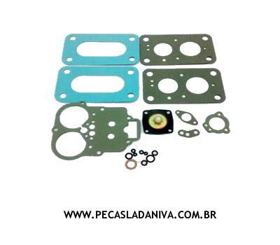 Kit de Juntas do Carburador Niva Ano de 90>93 Weber Russo (Novo) Ref. 0222