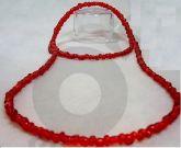 Guia Miçangão de Cristal Vermelha