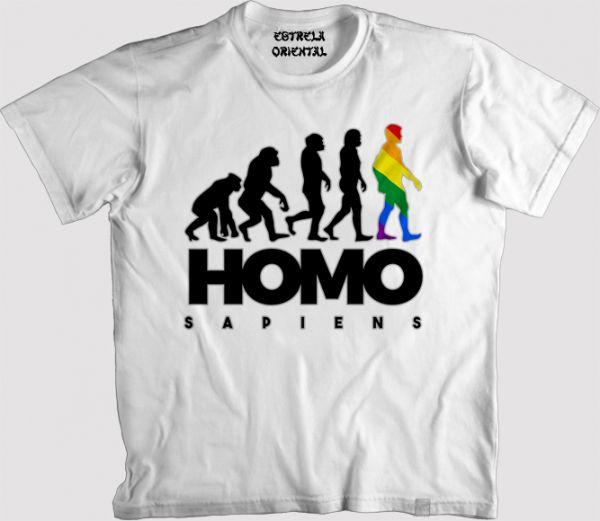 ecae71d2d9452 Camiseta EVOLUÇÃO LGBT - Loja da Estrela Oriental
