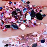Pedrarias Para Unhas - Mix Modelos Sortidos Rosa Claro