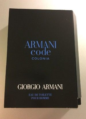 Amostra Perfume Armani  Code Colonia edt Pour Homme 1,2ml