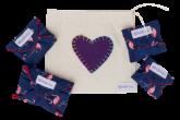 Kit Absorventes Reutilizáveis Violeta Cup - Floral