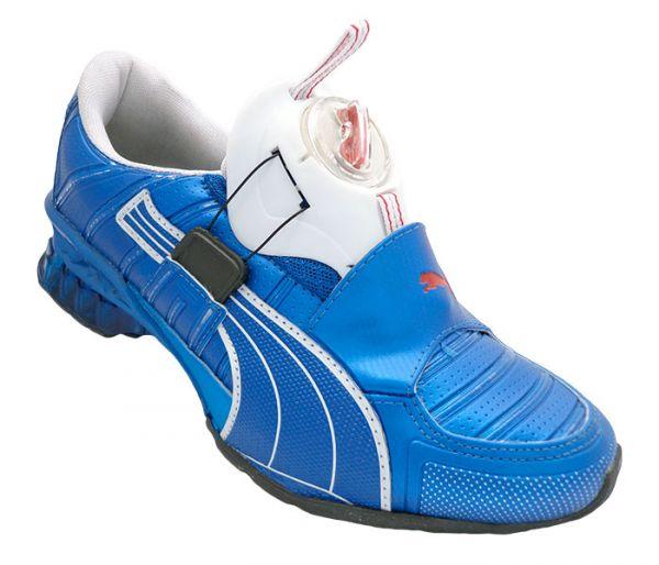 77bf61a7150 Tênis Puma Disc Cell Aether SL Azul e Branco - JL Calçados