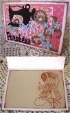 Cartão Artesanal Vintage Parabéns