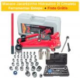 Macaco Jacarézinho Hidraulico 2t C/maleta Ferramentas Estepe + FRETE GRÁTIS