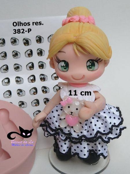 Boneca kit combo  Nina + 30 p olhos res. 382 P