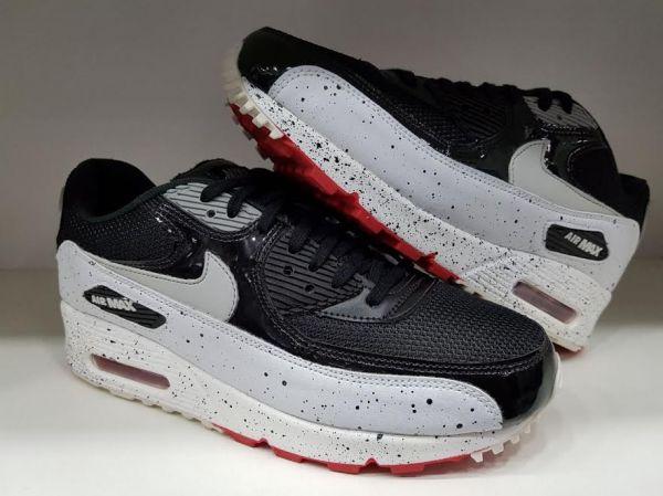 d54396b289c Tênis Nike Air Max 90 Premium Branco c  Preto - Outlet Ser Chic
