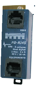 PD-RJ45 Protetor de Surto p/ Centrais de PABX  20kA