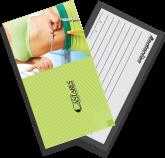 500 unidades - Cartão de visita 250g - 4x1 - UV total frente