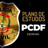 (Plano de Estudos) ESCRIVÃO PCDF