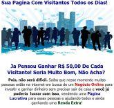 Página Lucrativa - Renda Extra  - Receba Ilimitados Pagamentos de R$ 50,00 na sua conta do Pagseguro