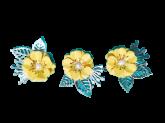 Kit Flores de Papel Amarela 3un