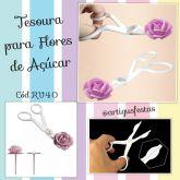 Tesoura para flores em chantilly