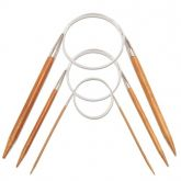 Agulha Circular de Bambu - 80 CM - n10