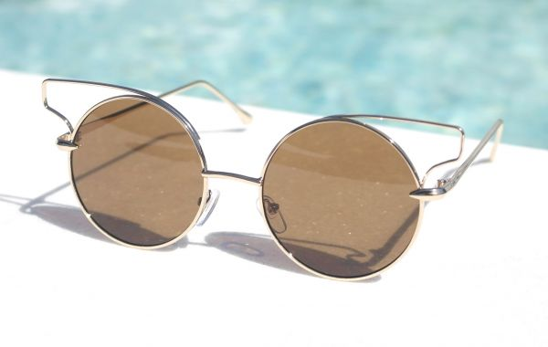 6f6729e7e83ee Óculos de sol feminino Inspirado Dita Believer Dourado Inspired ...