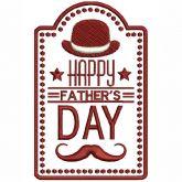 Feliz dia dos pais happy father's day matriz para bordar alfaia bordados