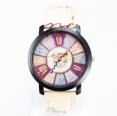 Relógio Color Retrô Número Romano  C