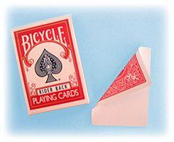 Baralho Bicycle, esp com face bca e dorso vermelho  #171
