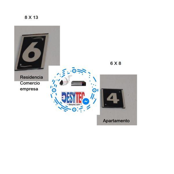 Placa de vidro espelhado números