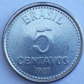 5 Centavos 1987 SOB/FC