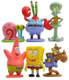 Turma do Bob Esponja Decorativo 6 Personagens - 5cm