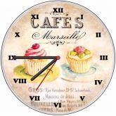 Relógio Parede Cafés Marseille