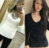blusa de pelinhos