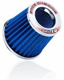 Filtro Ar Esportivo 90.0 Mm Blazer V6 Vortec 4.3 Race Chrome Azul - Cód.RR030