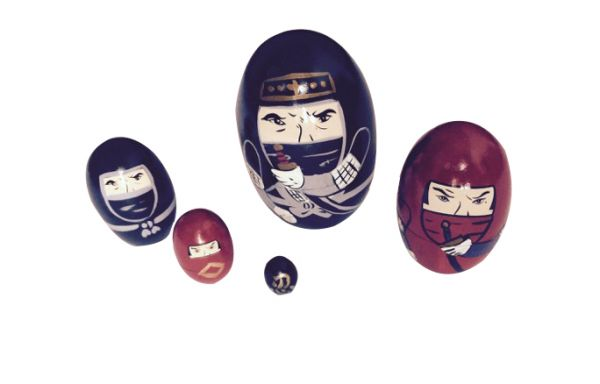 Dyeduchka Ninja Oval Matrioska 9cm