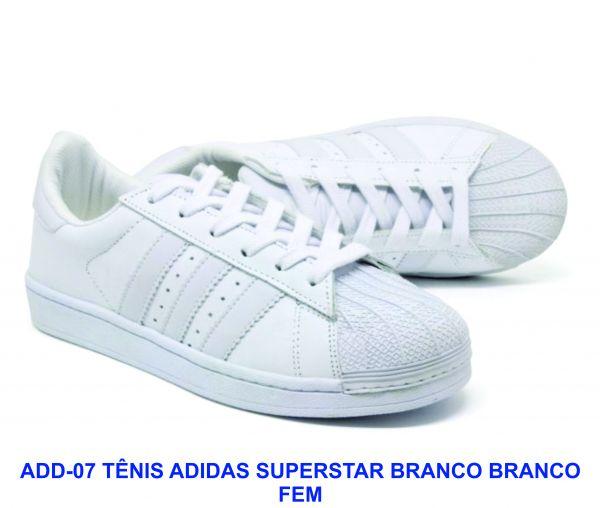 Tênis ADIDAS Superstar Feminino Branco - Inspiração - PROMOÇÃO ... ae0bb03efe5be