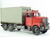 Enfeite de Metal - Caminhão Baú de Lata 36,50 cm - CRD-1217
