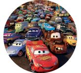 Papel Arroz Cars Redondo 007 1un