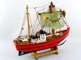 Barco Pesqueiro Decorativo 30 Cm - Em Madeira 30 x 27 cm A/V - Decor Glass