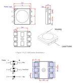 LED PLCC 5050 de 0,3W RGB Edison (20 peças)