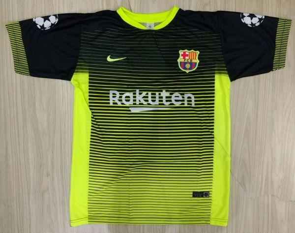 Camisa Barcelona Preta Com Limao Loja De Paraisodotorcedor