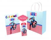livrinho de colorir Capitão America