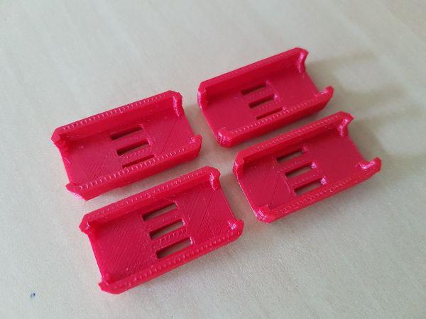 KIT c/ 04 Protetores de ESC em ABS (COR Vermelho)