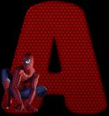 Alfabeto – Homem Aranha 5 – PNG