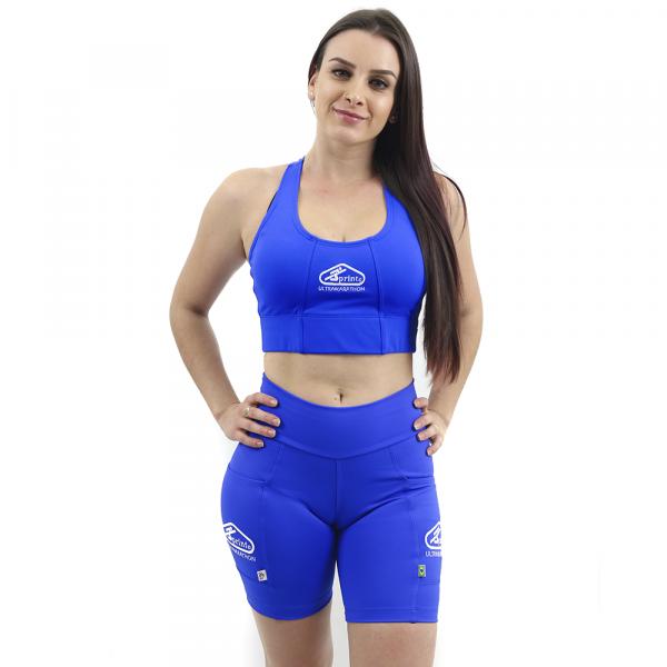 Top Nadador de Compressão Azul Anil - Emana